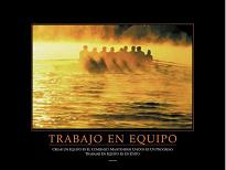 "Cuadro trabajo en equipo - El texto de la foto dice: ""En un equipo todos deben tener la vista puesta en un mismo objetivo comn"""